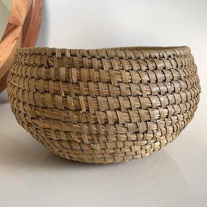 Boho Woven Rattan Basket, Planter, or Storage